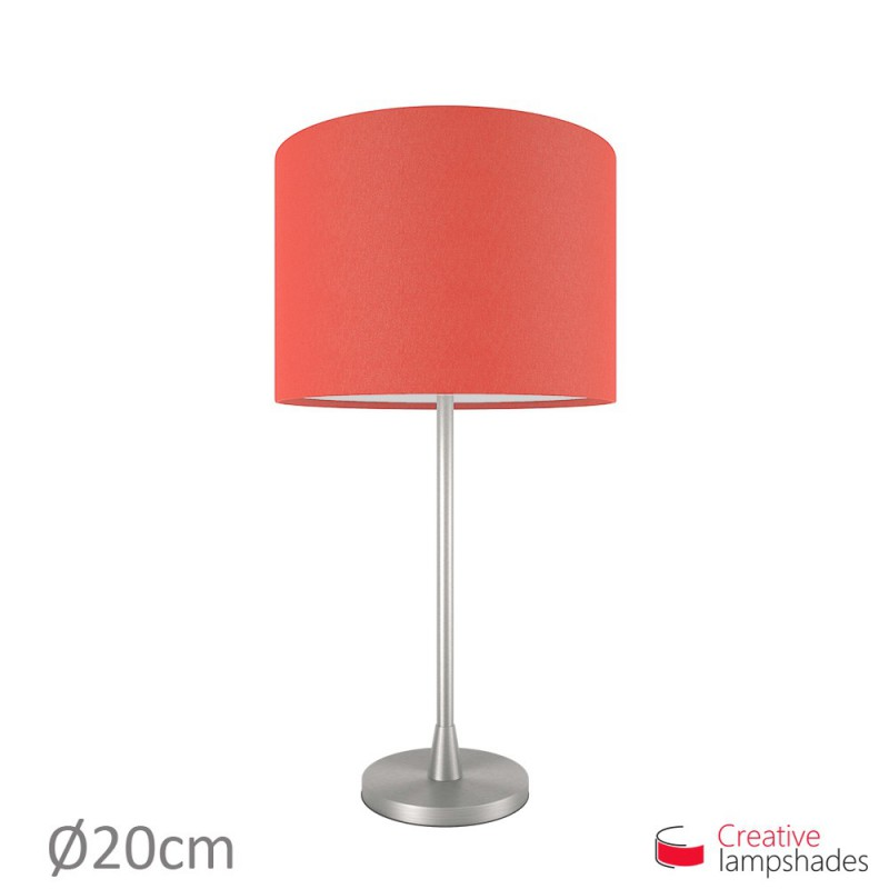 Red Canvas Cylinder Lamp Shade
