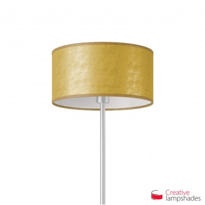 Gold Leaf Cylinder Lamp Shade