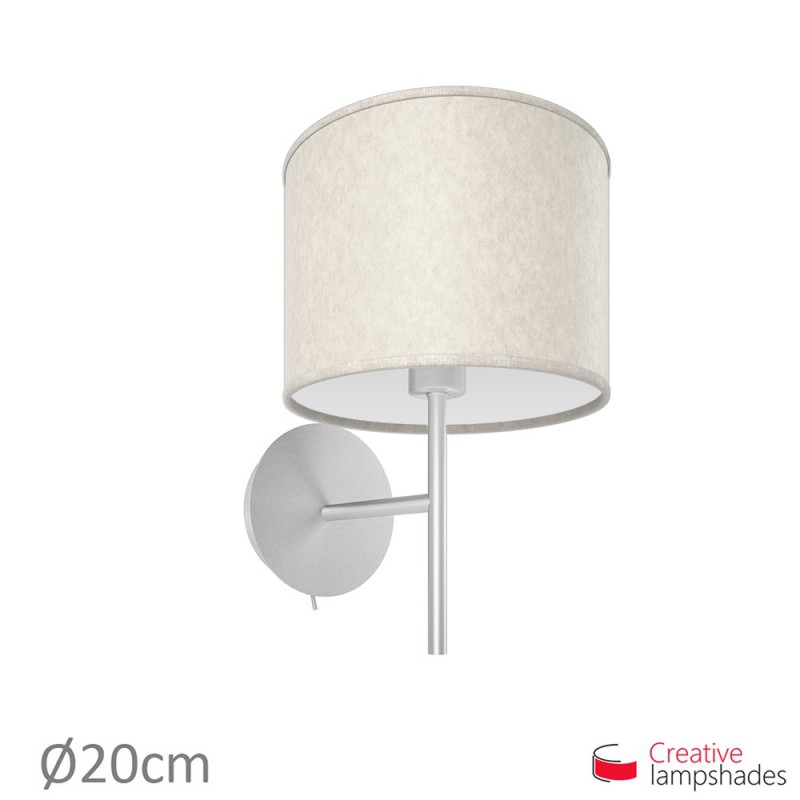 White Parchment Cylinder Lamp Shade