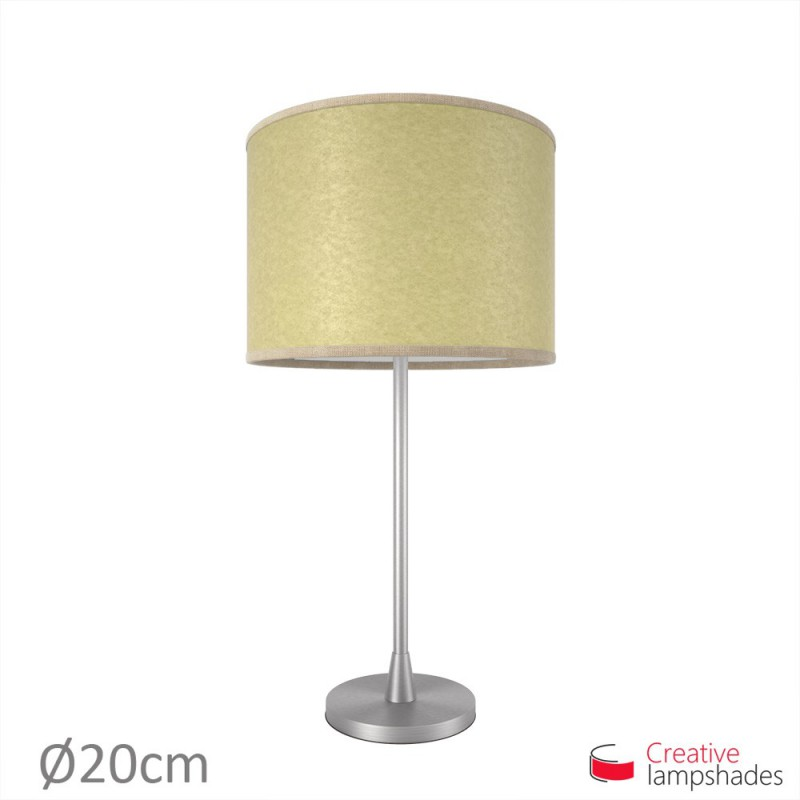 Light Yellow Parchment Cylinder Lamp Shade