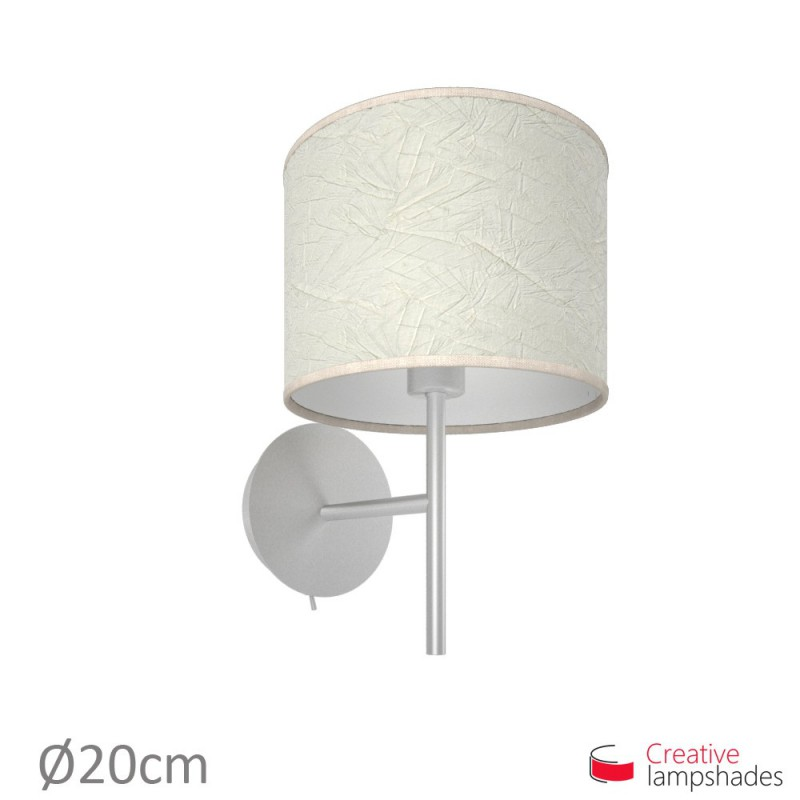 Milk Palmeras Cylinder Lamp Shade