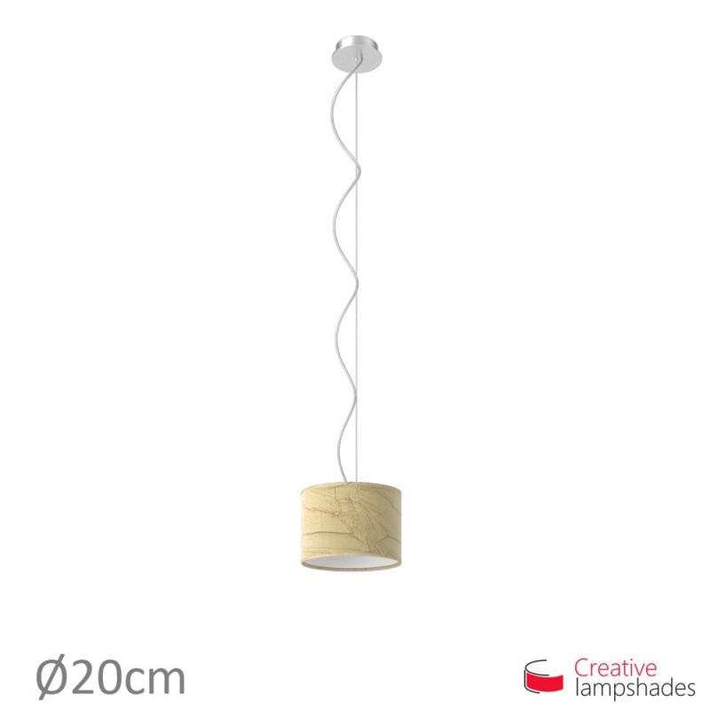 Abat-Jour Cylindre Revêtement Palmeras Noisette