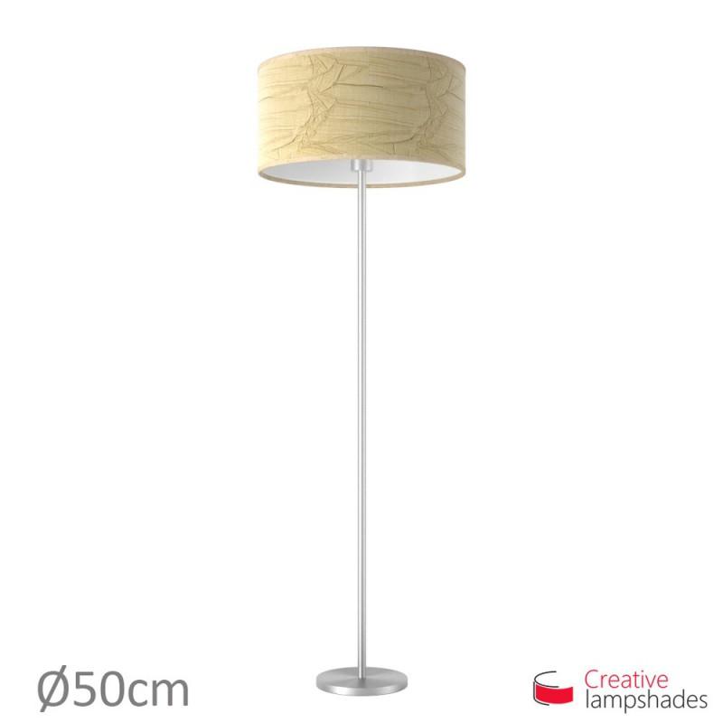 Lampenschirm Zylinder Jute Palmenblatt