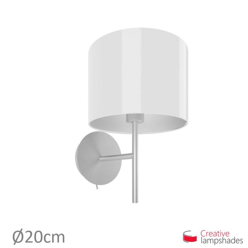 Abat-Jour Cylindre Revêtement Lumiére Blanc