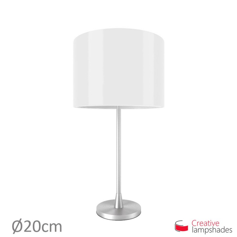 White Lumiere Cylinder Lamp Shade