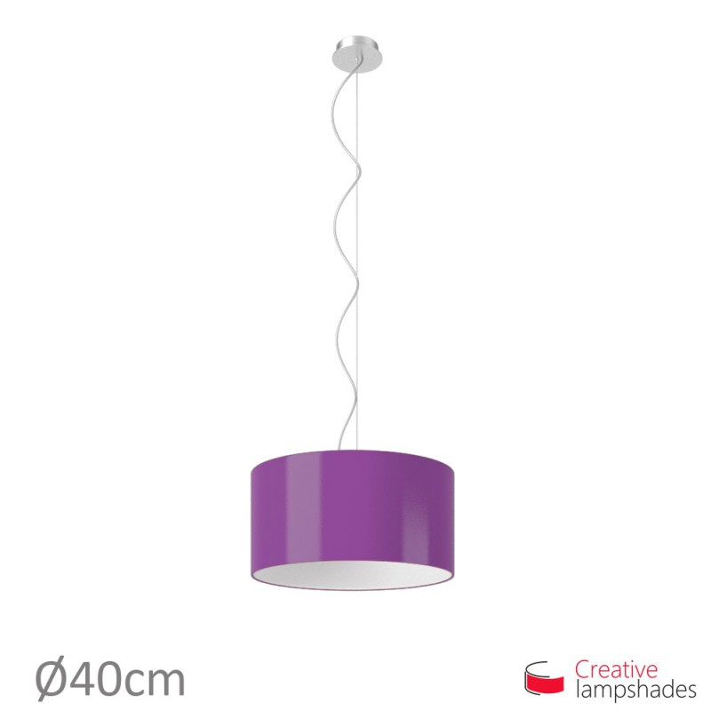 Violet Lumiere Cylinder Lamp Shade