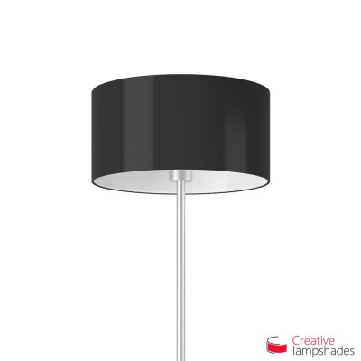 Black Lumiere Cylinder Lamp Shade