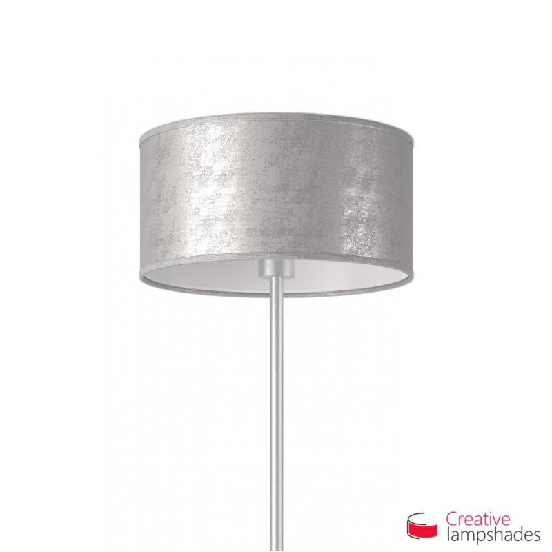 Leaf cylinder lamp shade silver leaf cylinder lamp shade mozeypictures Image collections
