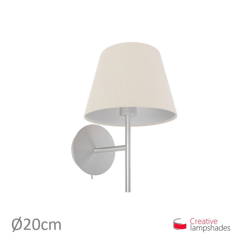 Empire Lamp Shade Sand Canvas covering
