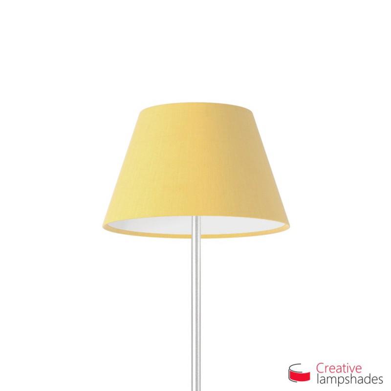 abat jour empire rev tement toile jaune opaque. Black Bedroom Furniture Sets. Home Design Ideas