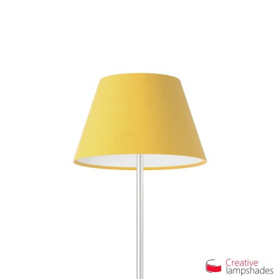 Empire Lamp Shade Golden Yellow Canvas Covering ...