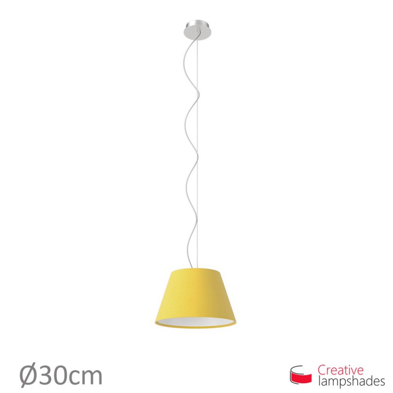 Empire Lamp Shade Bright Yellow Canvas covering