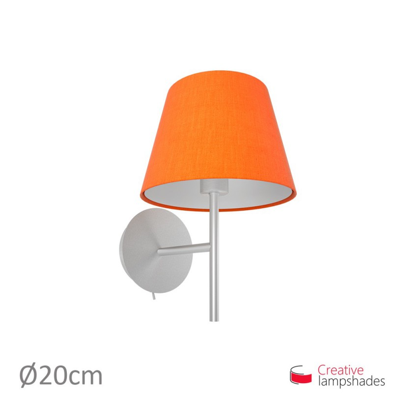 Empire Lamp Shade Orange Canvas covering