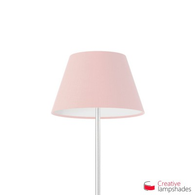 Empire Lamp Shade Pink Canvas covering