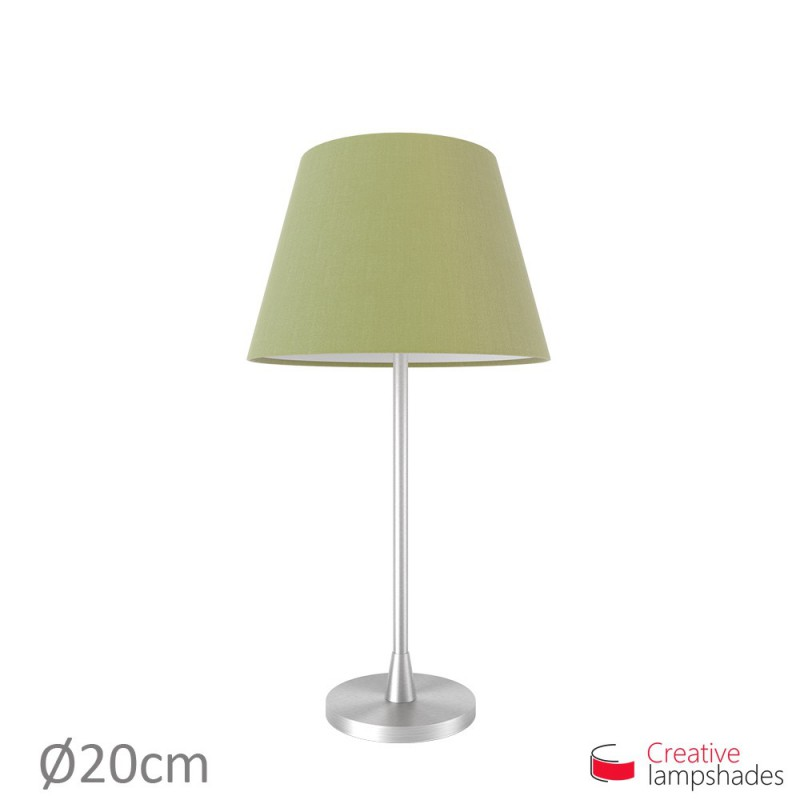 Empire Lampenschirm olivegrün Leinwand