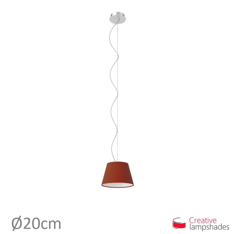 Empire Lamp Shade Burgundy Canvas covering
