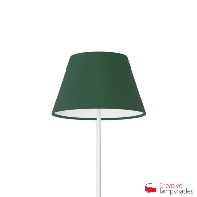 Empire Lamp Shade Dark Green Canvas covering