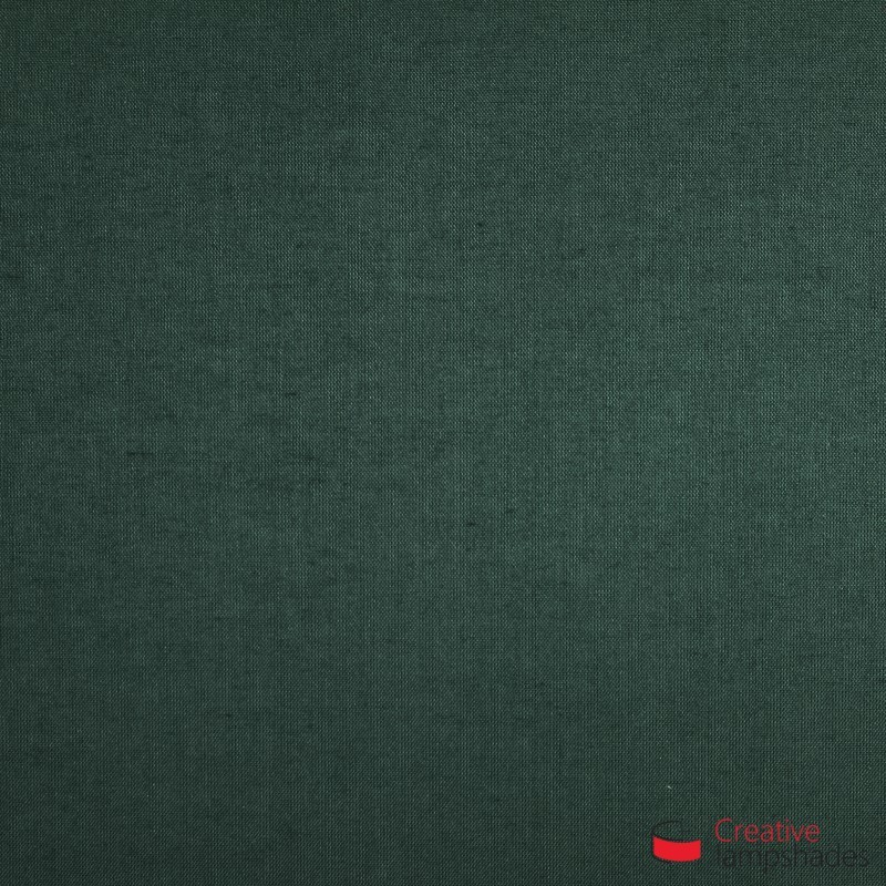 Empire Lamp Shade Dark Green Canvas covering