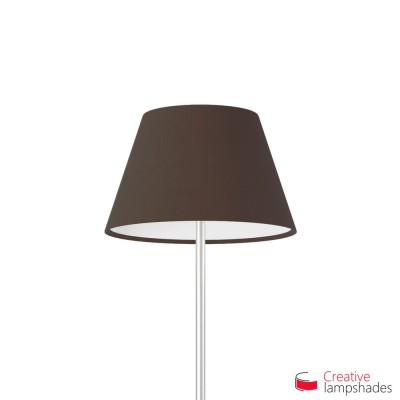 Empire Lamp Shade Brown Canvas covering