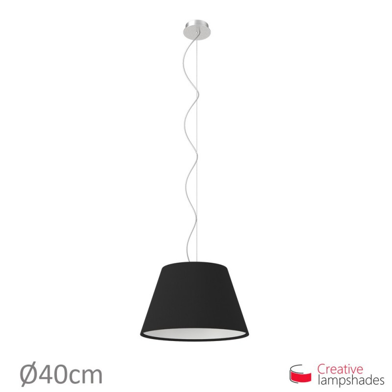 Empire Lamp Shade Black Canvas covering