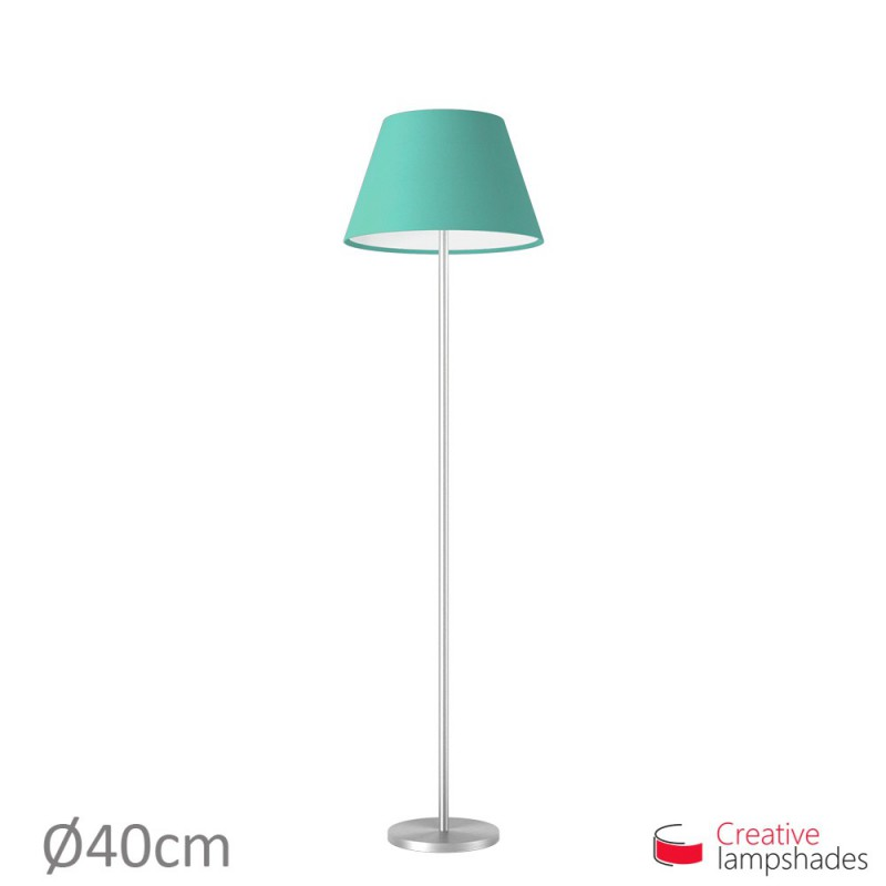Empire Lamp Shade Turquoise Cinette covering