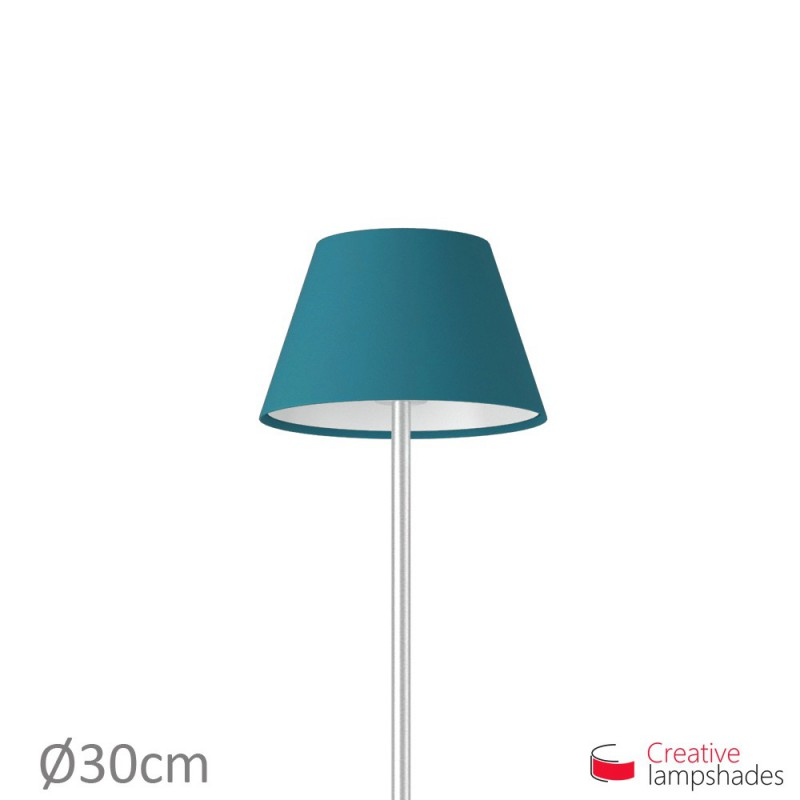 Empire Lamp Shade Blue Cinette covering
