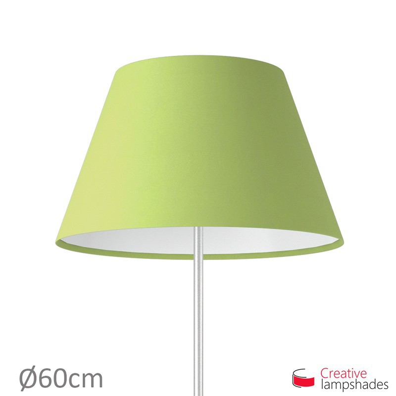 Empire Lamp Shade Pistachio Green Cinette covering