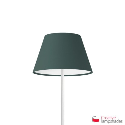 Empire Lamp Shade Petrol Blue Cinette covering