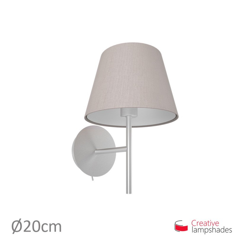 Empire Lamp Shade Grey Camelot covering