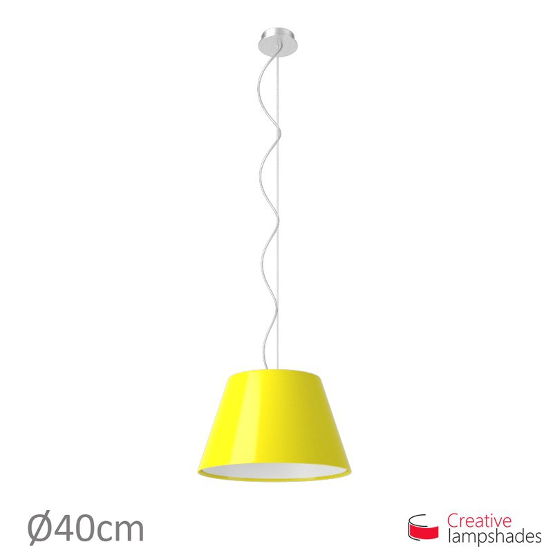 Empire Lamp Shade Yellow Lumiere covering