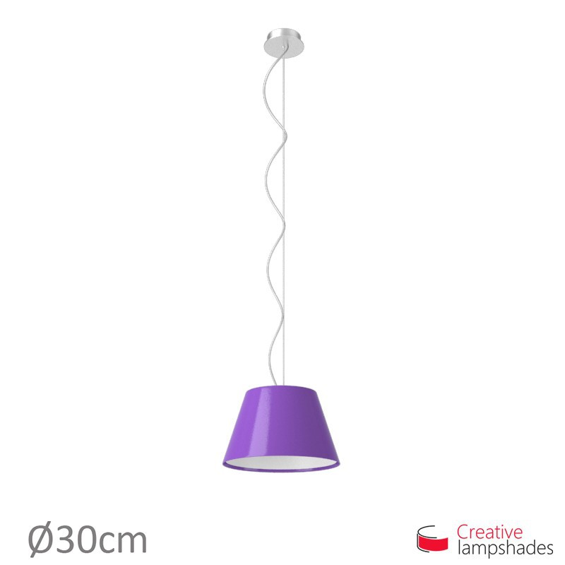 Empire Lamp Shade Violet Lumiere covering