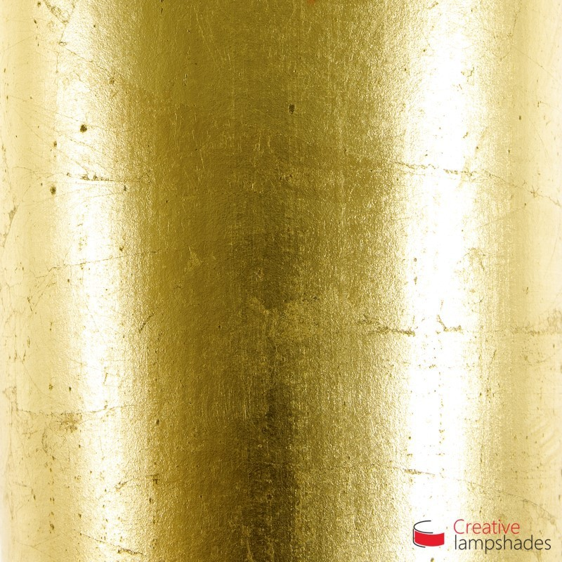 Lamp shade gold leaf covering empire lamp shade gold leaf covering aloadofball Image collections