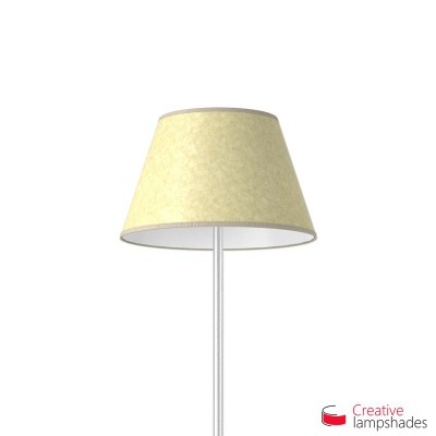 Empire Lamp Shade Light Yellow Parchment covering