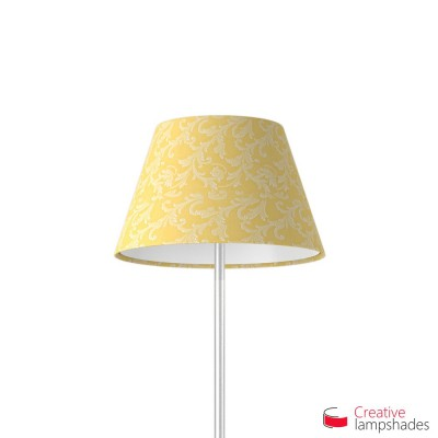 Empire Lamp Shade Golden Yellow Damascus covering