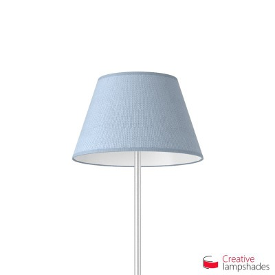 Empire Lamp Shade Heavenly Blue Jute covering
