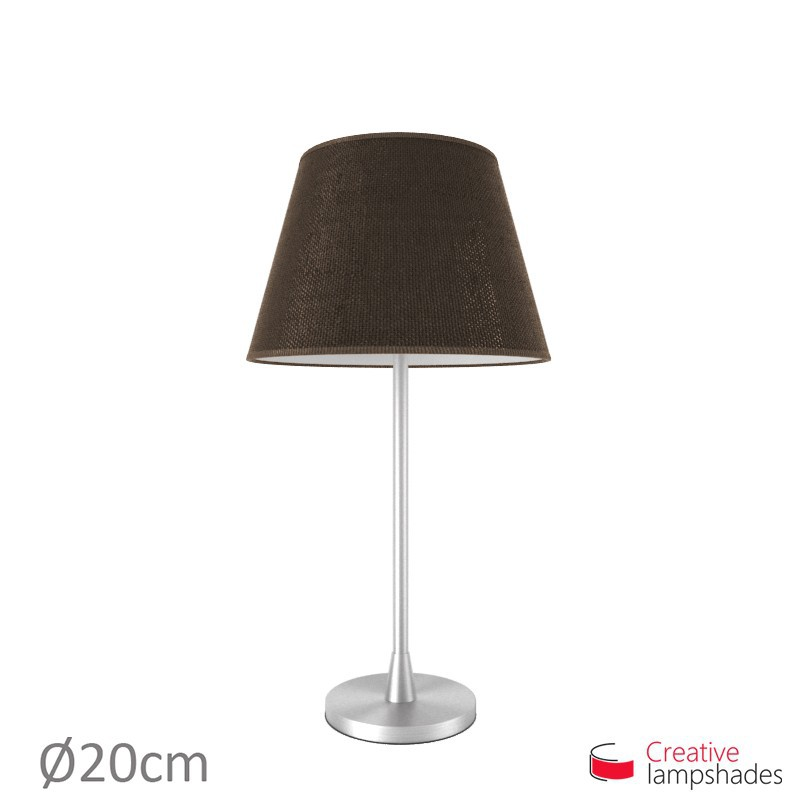Empire Lamp Shade Brown Jute covering