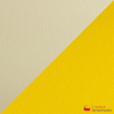 Abat-jour Empire Revêtement Toile Noisette Avec Intérieur Or