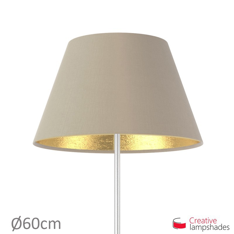empire lampenschirm haselnuss leinwand innen gold. Black Bedroom Furniture Sets. Home Design Ideas