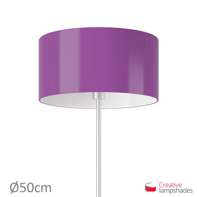 Cylinder Shade Fabric:Violet Lumiere