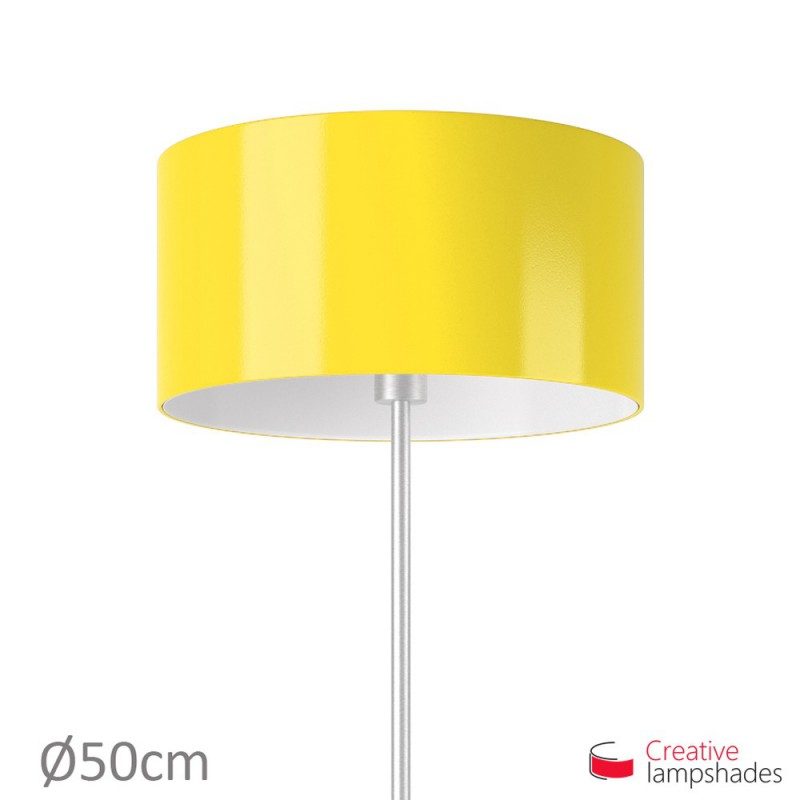 Cylinder Shade Fabric:Yellow Lumiere