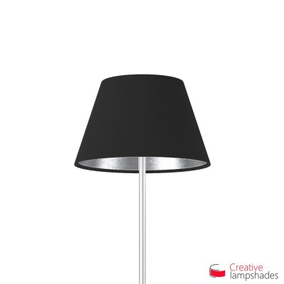 Empire Lamp Shade Black Canvas With Silver int. covering