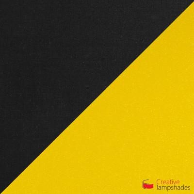 Abat-jour Empire Revêtement Toile Noir Avec Intérieur Or
