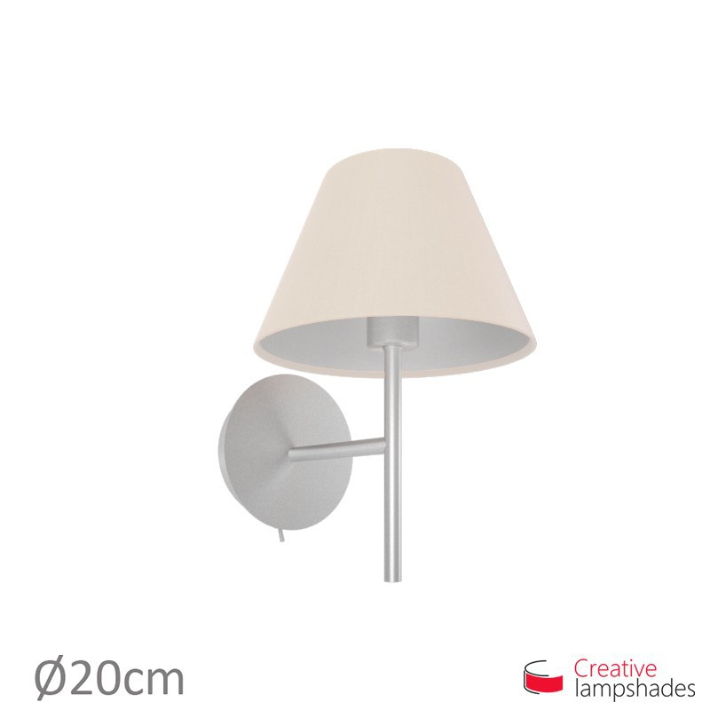 Chinese lampshade with Sand Canvas covering