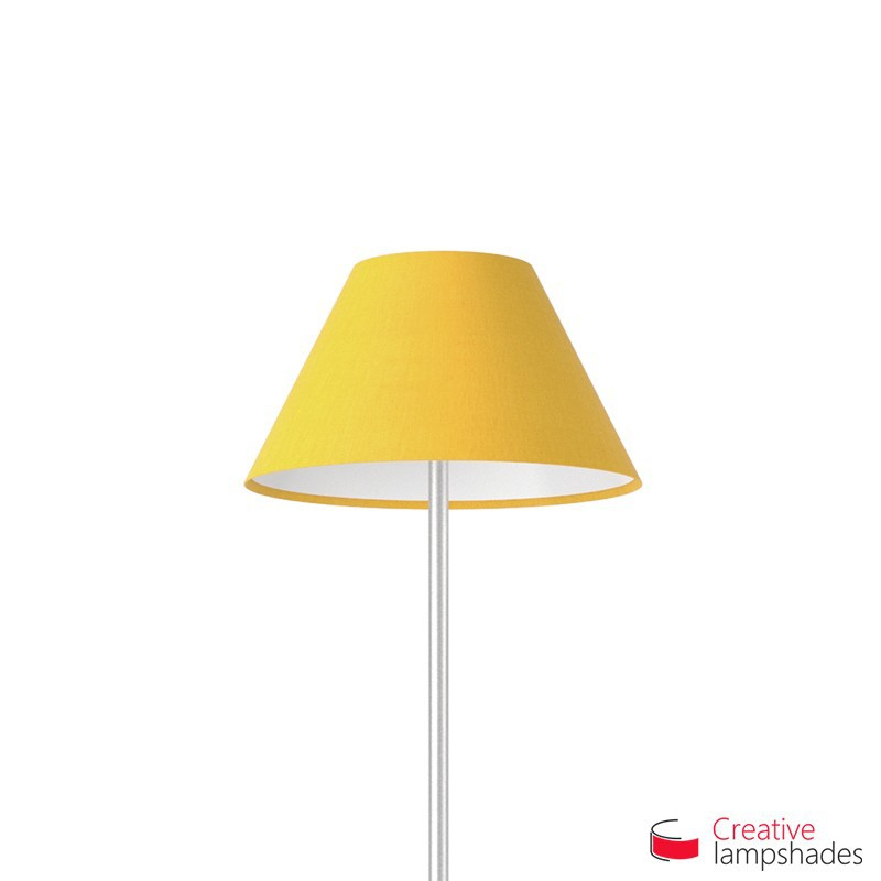 Chinese lampshade with Golden Yellow Canvas covering