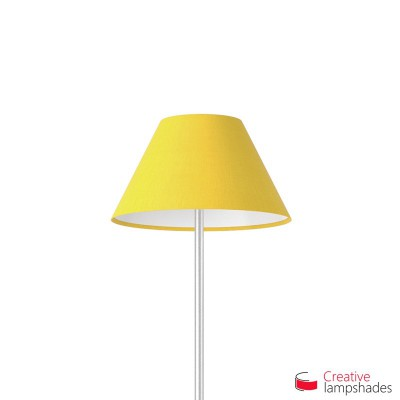 Chinese lampshade with Bright Yellow Canvas covering