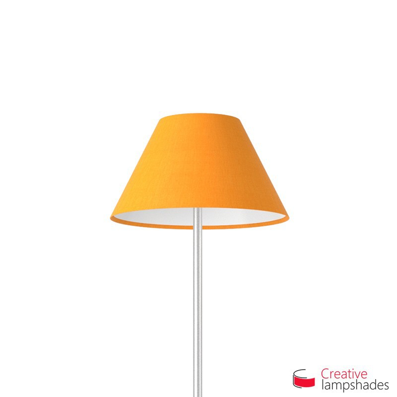 Chinese lampshade with Mandarine Orange Canvas covering