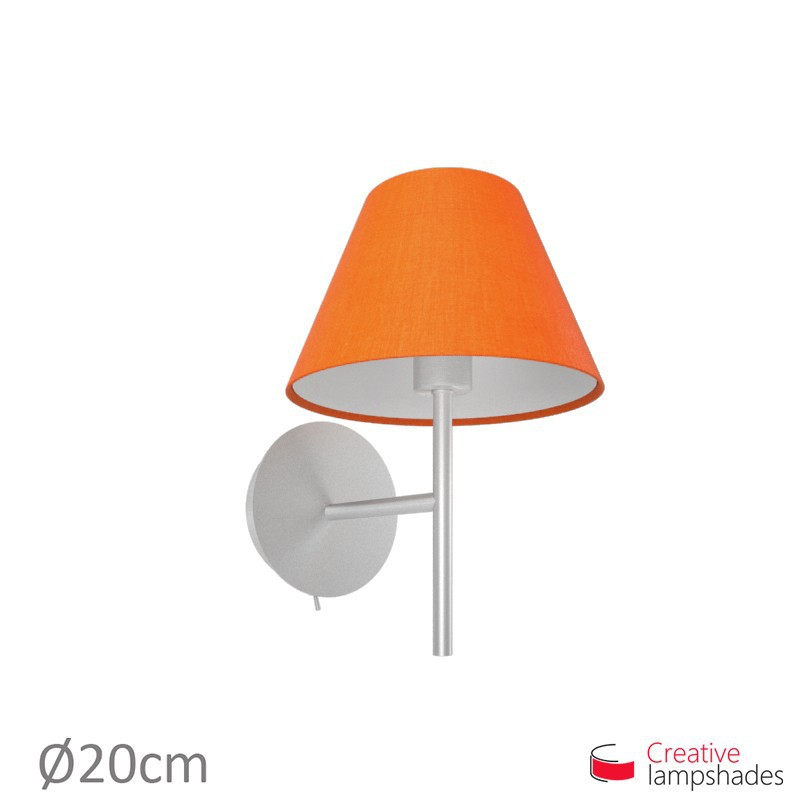 Chinese lampshade with Orange Canvas covering