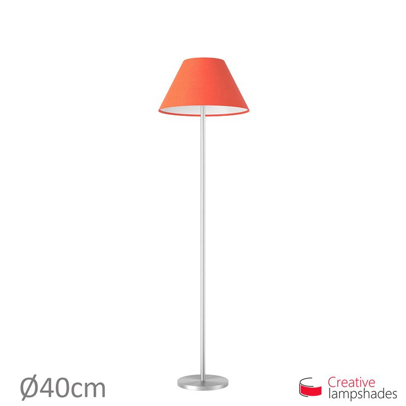 Chinese lampshade with Red Canvas covering