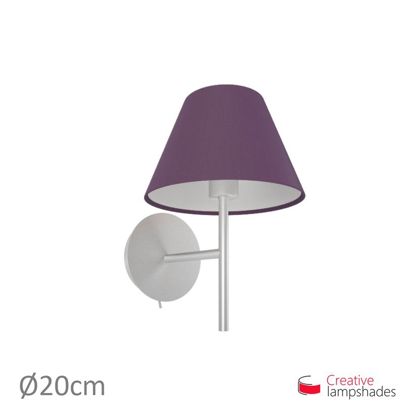 Chinese lampshade with Dark Violet Canvas covering