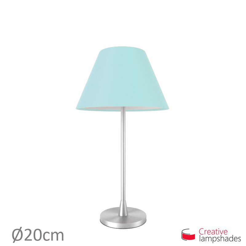 Chinese lampshade with Heavenly Blue Canvas covering